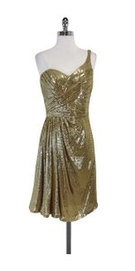 Badgley Mischka short dress Gold Sequin Silk One on Tradesy