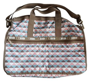 LeSportsac Large Weekender Pink Pyramid Travel Bag