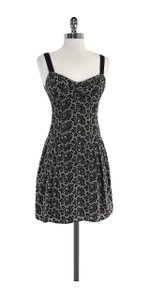 Nanette Lepore short dress Black Nude Floral Embroidered on Tradesy