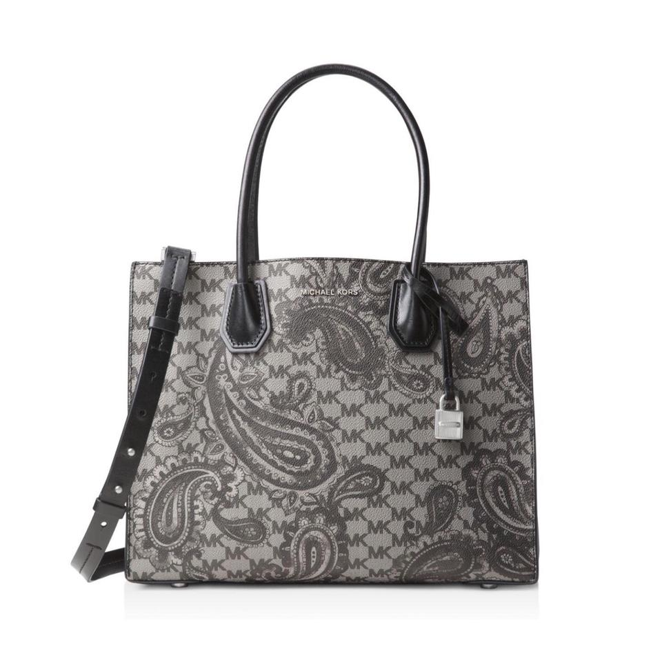 eb261077aab5 MICHAEL Michael Kors Paisley Mercer Large Conv Black Coated Canvas ...
