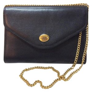 Dior Leather Chain Flap Vintage Crossbody Shoulder Bag