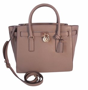 Michael Kors Hamilton Traveler Satchel in Dark Taupe