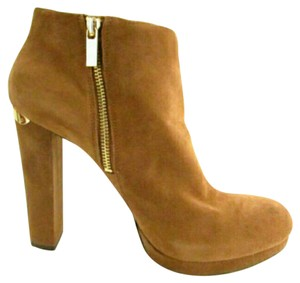 Michael Kors Suede Ankle Tan Boots