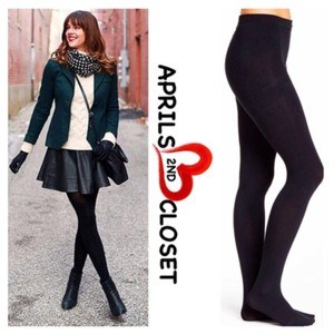 A.B.S. by Allen Schwartz 2 PAIRS OF ABS BLACK TIGHTS