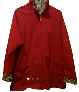 un brand Reversible red/tan plaid Jacket
