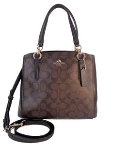 Coach Minetta Crossbody Satchel in Brown Black