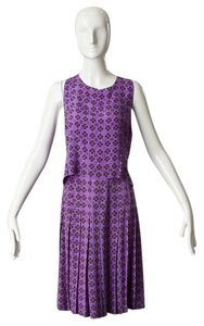 Chanel short dress Purple Four Leaf Clover Skirt And Shell Tank Set on Tradesy