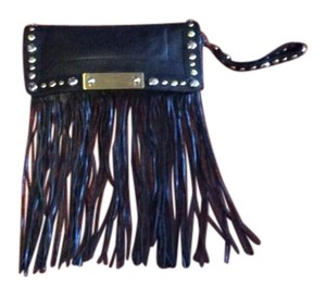 Karen Millen Fringed Hem Wristlet in Black