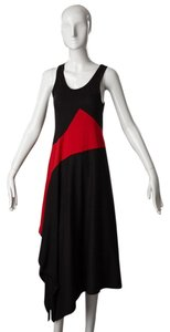 Black and Red Maxi Dress by Yohji Yamamoto High/low Japanesedesigner