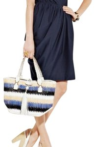 Anya Hindmarch Satchel in Blue/White