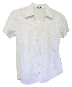 Aropostale Aero Poka Button Down Shirt Swiss Dot in Mellon