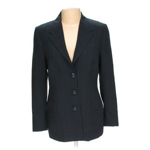 Versace VERSACE GIANNI COUTURE BLACK SINGLE BUTTON BLAZER