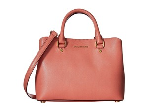 Michael Kors Savannah Satchel in Peach