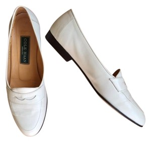 Cole Haan Loafers Made In Italy Cream - Winter White Flats