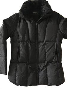 Andrew Marc Fur Puffer Fitted Warm Coat