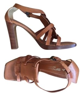 Via Spiga Gladiator Made In Italy Boho Resort Festival Brown Sandals