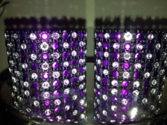 Purple/Silver 150 Napkin Rings Reception Decoration