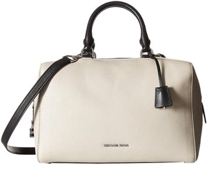 Michael Kors Kirby Satchel in Cement and Black