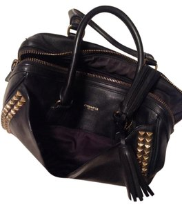 Coach Studded Leather Rocker Tote in Black