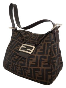 Fendi Designer Handbag Flap Closure Monogram Shoulder Bag