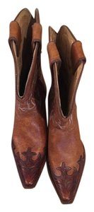 Tony Lama Leather Western brown Boots