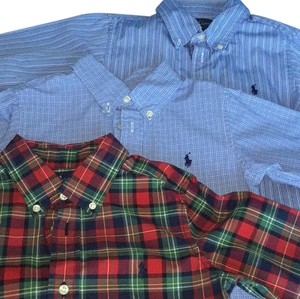 Ralph Lauren Button Down Shirt Blue/red