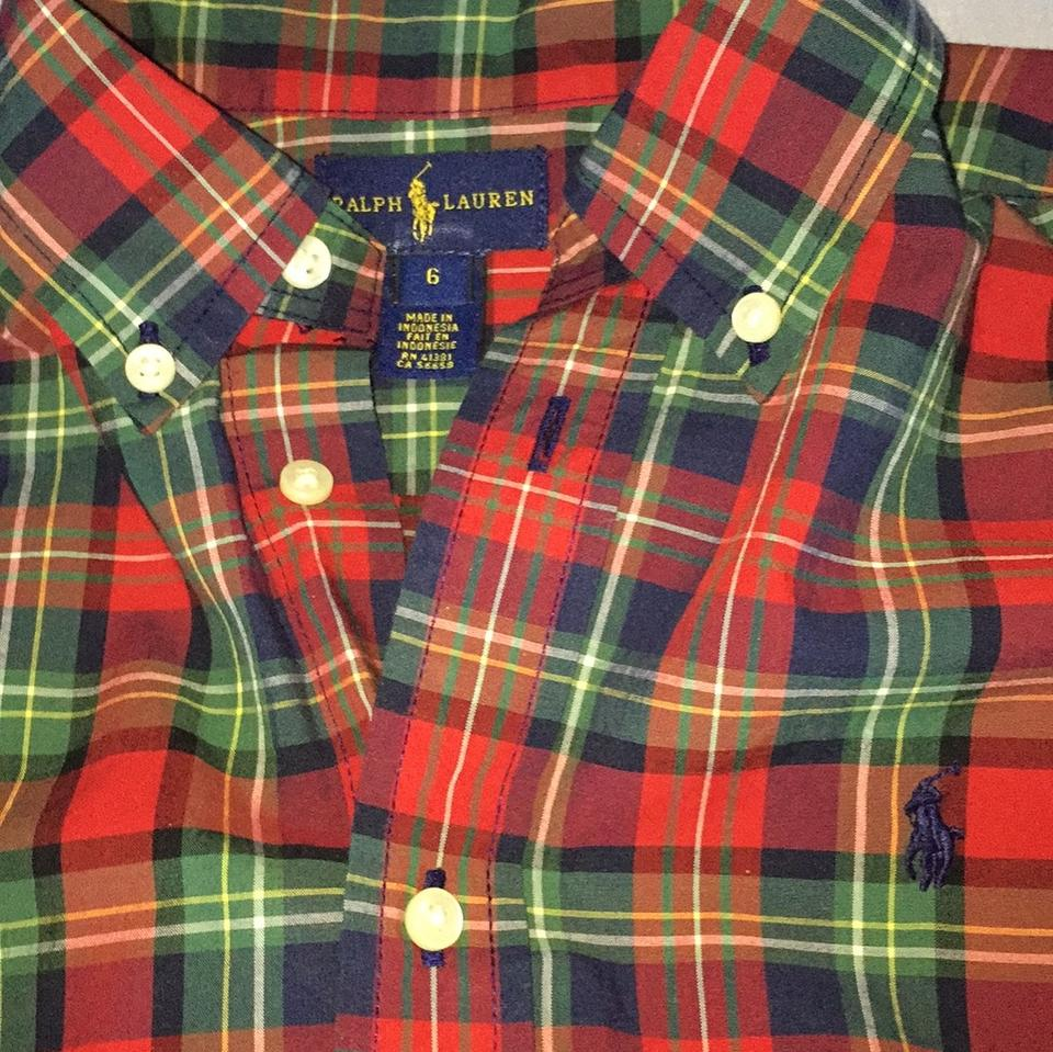 72d9a968 Ralph Lauren Blue/Red Boys Button-down Top Size OS (one size) - Tradesy