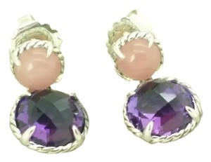 David Yurman David Yurman Double Drop Guava & Amethyst Earrings