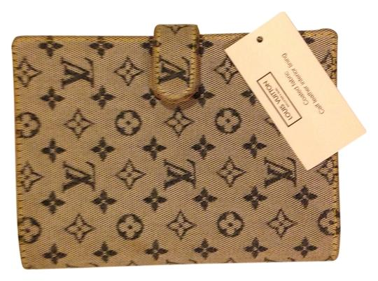 Louis Vuitton Logo Canvas Rare Paris Designer Blue Clutch