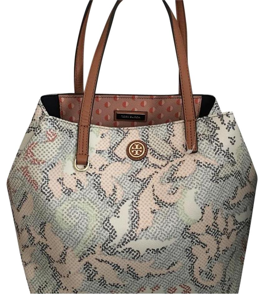 2d9fd44f199b Tory Burch Kensington Floral Leather Tote - Tradesy