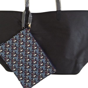 Stella & Dot & Canvas Reversible Tote in Black, Tribal