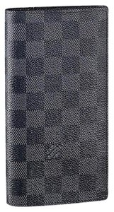 Louis Vuitton France Damier Graphite Brazza Long Wallet With Coin Pocket