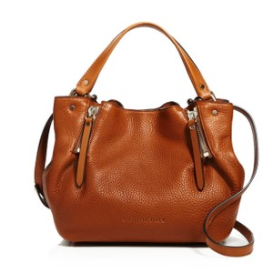 Burberry Satchel in Saddle Brown