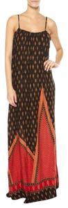 Brown and red patterned Maxi Dress by MINKPINK Maxi Full Length Flowy Print