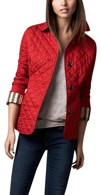 Item - Military Red Diamond Quilted Jacket Size 4 (S)