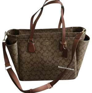 Coach KHAKI / SADDLE Diaper Bag