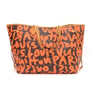 Louis Vuitton Lv Neverfull Gm Stephen Sprouse Graffiti Limited 2009 Tote in orange