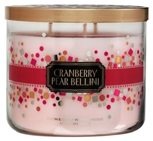 Bath and Body Works Bath&Body Works Cranberry Pear Bellini 3-wick Scented Candle