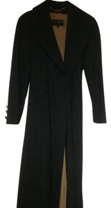 St. John Marie Grey Removable Lining Wool Trench Coat