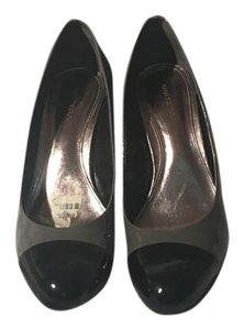 Ann Taylor Patent Patent Leather Grey, Black Pumps