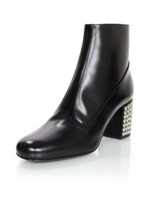 Saint Laurent Ankle Studded Heels black Boots