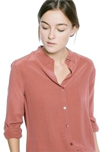 Everlane Pink Coral Silk Top Red Clay