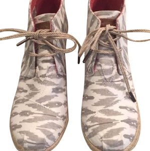 TOMS Ikat gray/white Boots