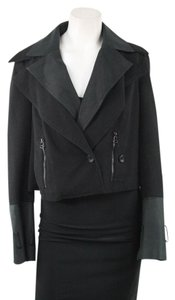 Robert Rodriguez Black Cropped Moto Jacket