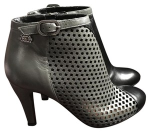 Chanel Boot Bootie Colorblocking Grey/Black Boots
