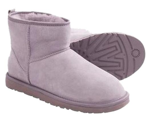 Preload https://item2.tradesy.com/images/ugg-australia-heathered-lilac-classic-mini-crystal-bow-bootsbooties-size-us-8-2018091-0-0.jpg?width=440&height=440