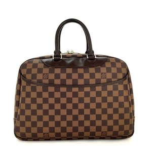 Louis Vuitton Damier Deauville Travel Hand brown Travel Bag