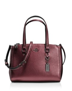 Coach Satchel in Metallic Cherry