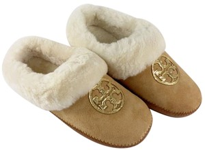 Tory Burch Coley Slippers Tan/Gold Flats