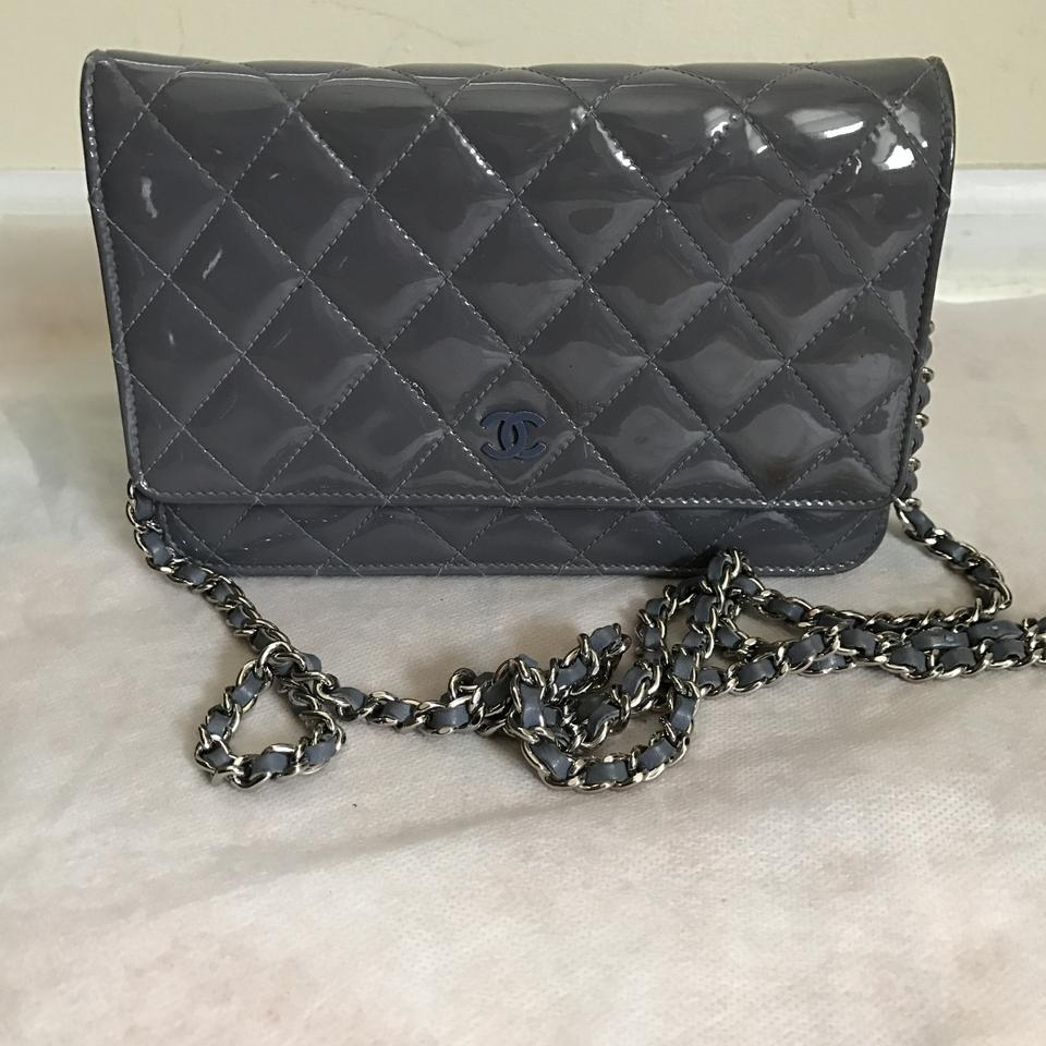 632aeada43bc Chanel Wallet on Chain Wallet On A Chain Grey Patent .